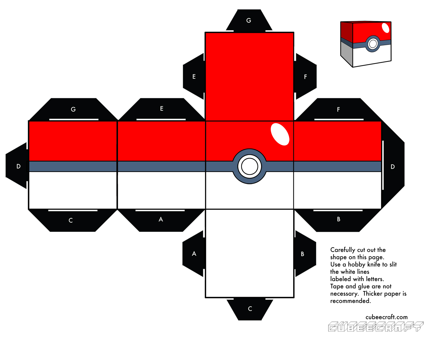 Demon works papercraft template collection for Pokemon templates print