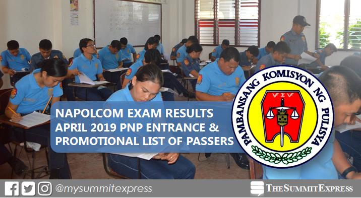 FULL RESULTS: April 2019 NAPOLCOM exam list of passers, top 20