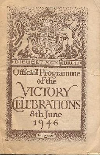 Official programme for Victory celebrations