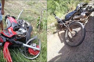 Motos que seguiam em direção a Picuí se envolvem em acidente na RN-288