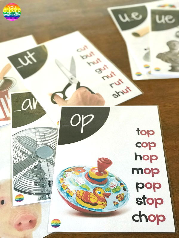 Word Family Short Vowel Sound Posters | you clever monkey