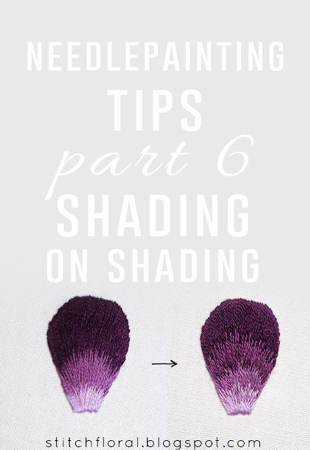 Needlepainting tips p. 6: Shading on shading