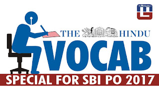 THE HINDU VOCABULARY | 16.03.2017 | IMPORTANT FOR SBI PO