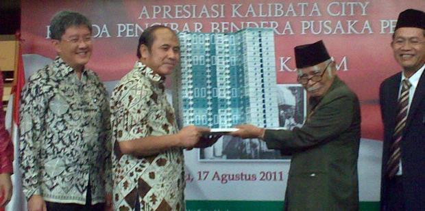 Ilyas Karim, Pengibar Bendera Merah Putih Saat Proklamasi 1945 Dapat Hadiah Apartemen di Tahun 2011