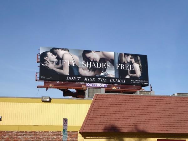 Fifty Shades Freed film billboard