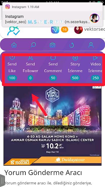 Cara Membuat Auto Follower dan Auto View Stores Instagram Menggunakan Situs Turkey