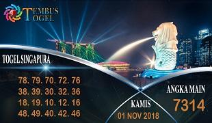 Prediksi Angka Togel Singapura Kamis 01 November 2018