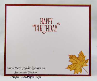 Colorful Seasons Bundle, Vintage Leaves, Masculine card, #thecraftythinker, Stampin' Up Australia Demonstrator, Stephanie Fischer, Sydney NSW