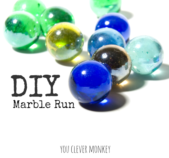 DIY Marble Run - make your own wooden marble run! Irresistible to children and adults alike | you clever monkey