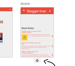 Blogger's Mobile template feature you may never knew existed
