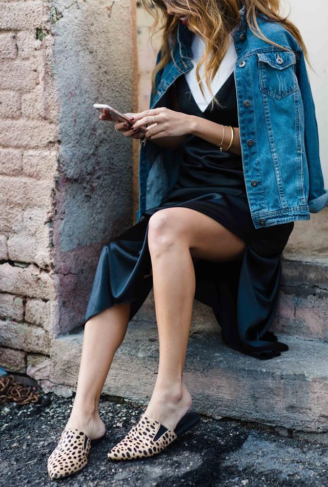 how to wear a slip dress, ways to wear slides, 5 ways to wear slides