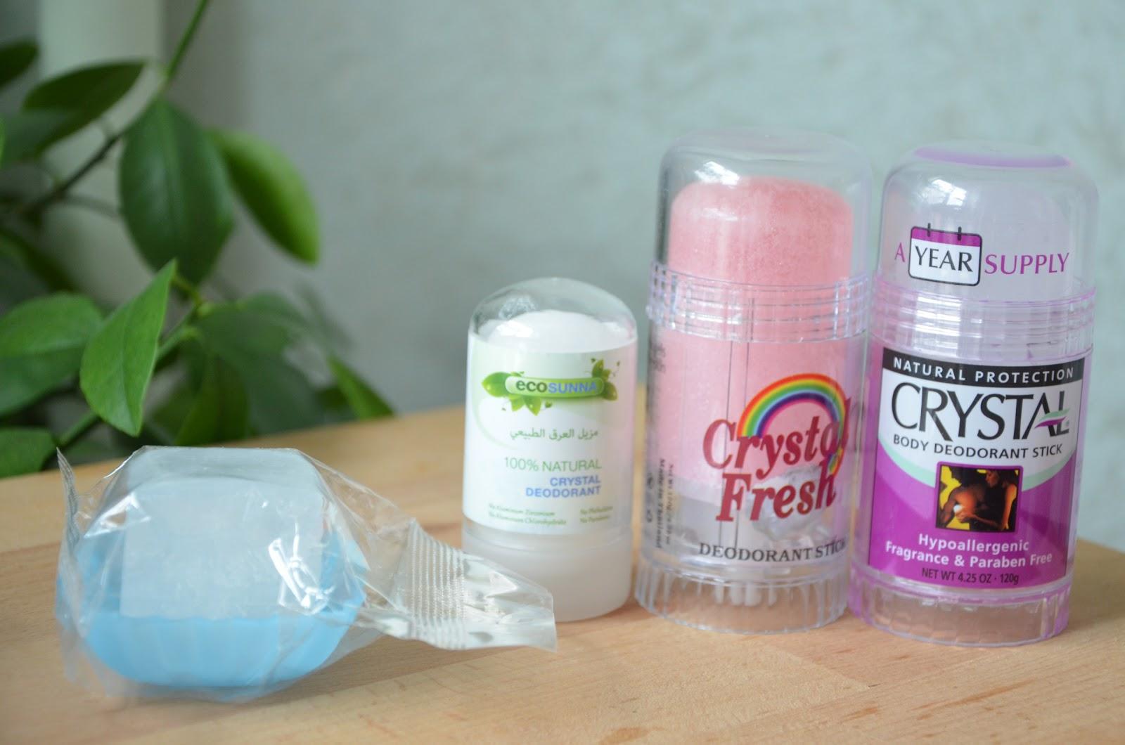 Минеральные дезодоранты EcoSunna, Crystal Body Deodorant, Crystal Fresh с экстрактом мангостина, Lafe's Natural Body Care