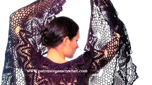 3 Patrones de Chales para tejer con Crochet