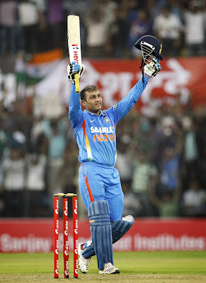 Virendra Sehwag Celebrating his Double Century