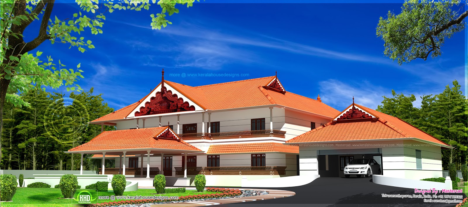 Stupendous Kerala Style Super Luxury House Newbrough Largest Home Design Picture Inspirations Pitcheantrous