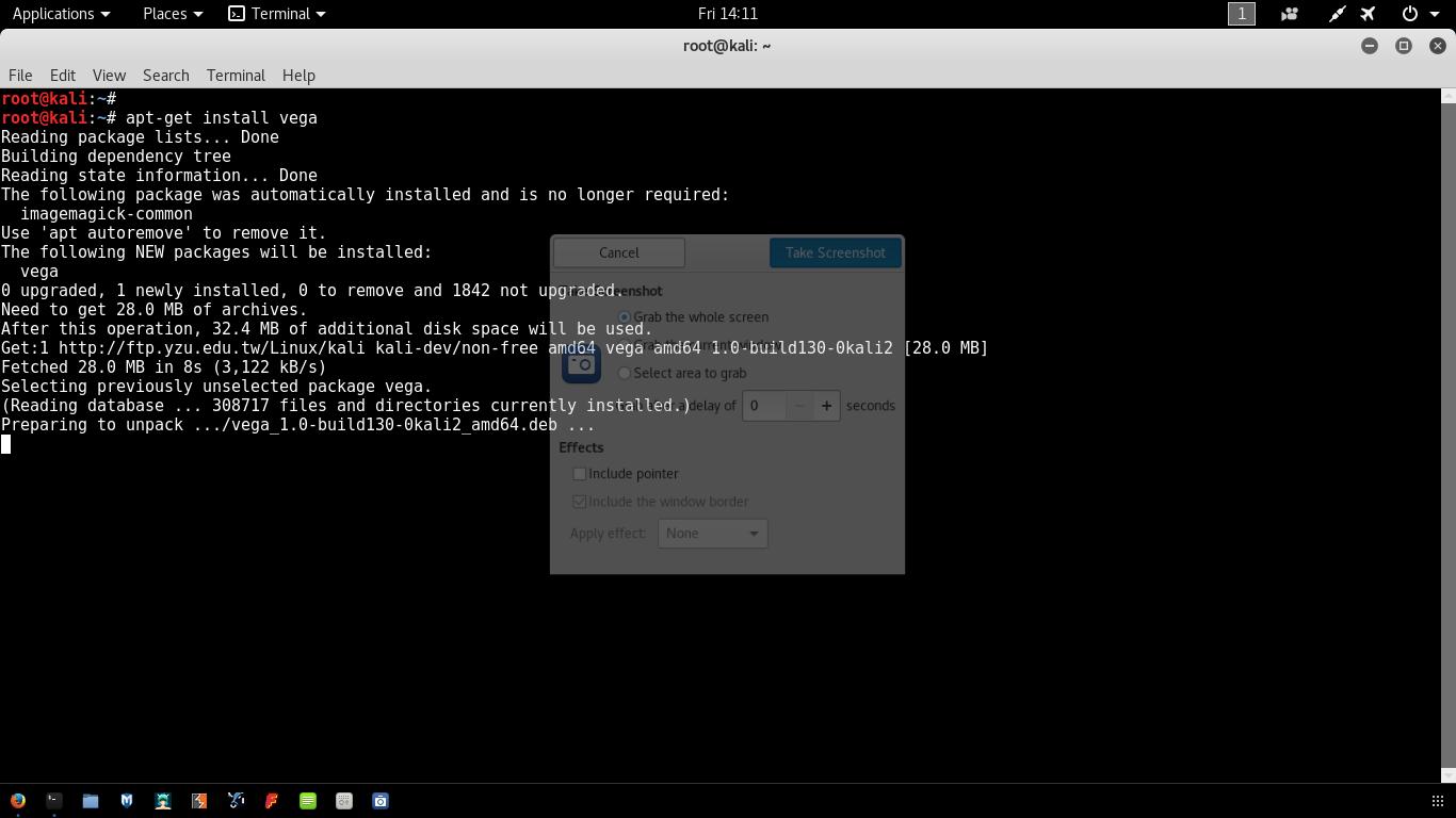 vega web application vulnerability scanner