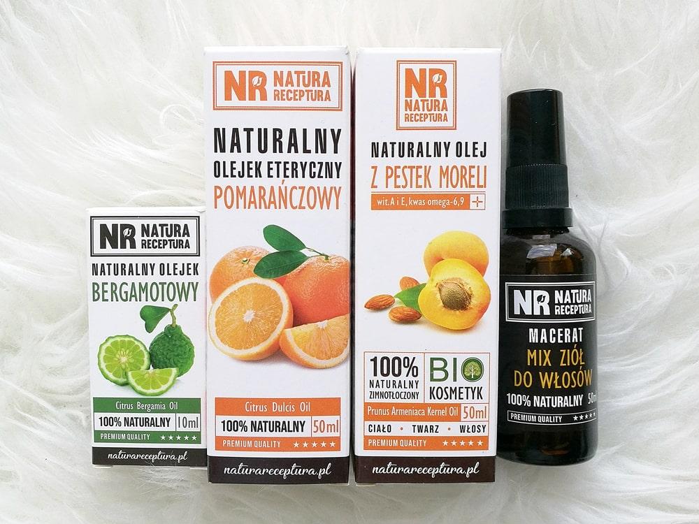 Serum do włosów DIY Natura Receptura /olejek uniwersalny do włosów, twarzy i ciała/