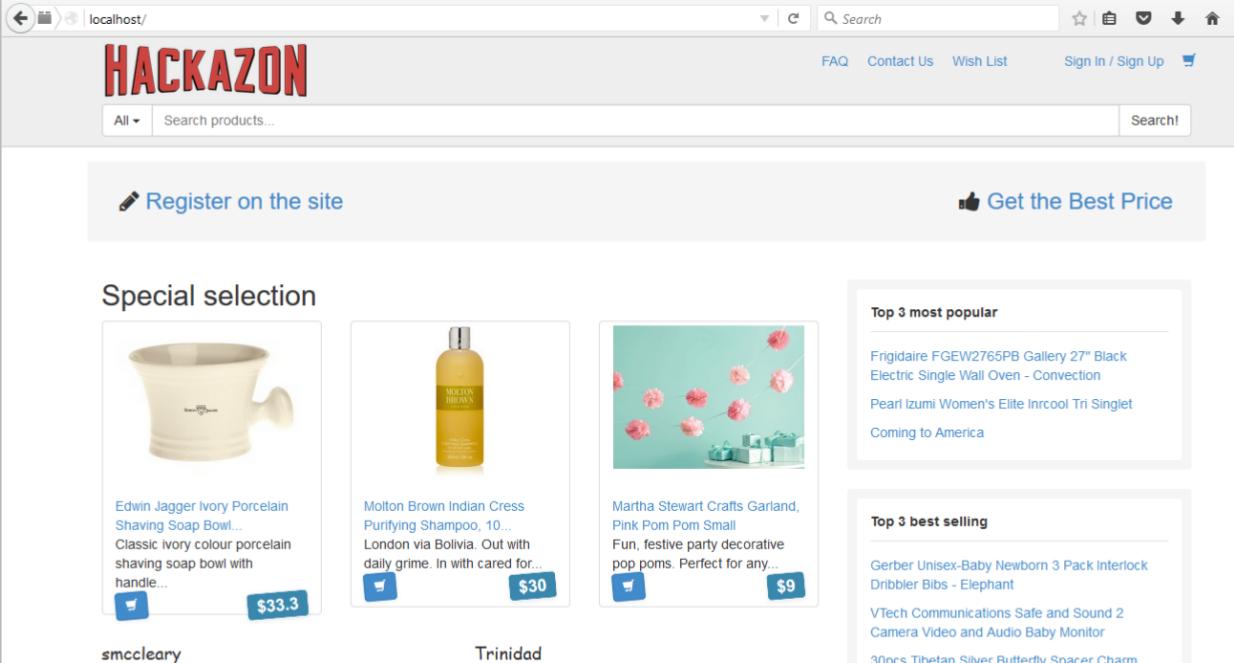 Hackazon: aplicación web vulnerable de e-commerce para practicar ...