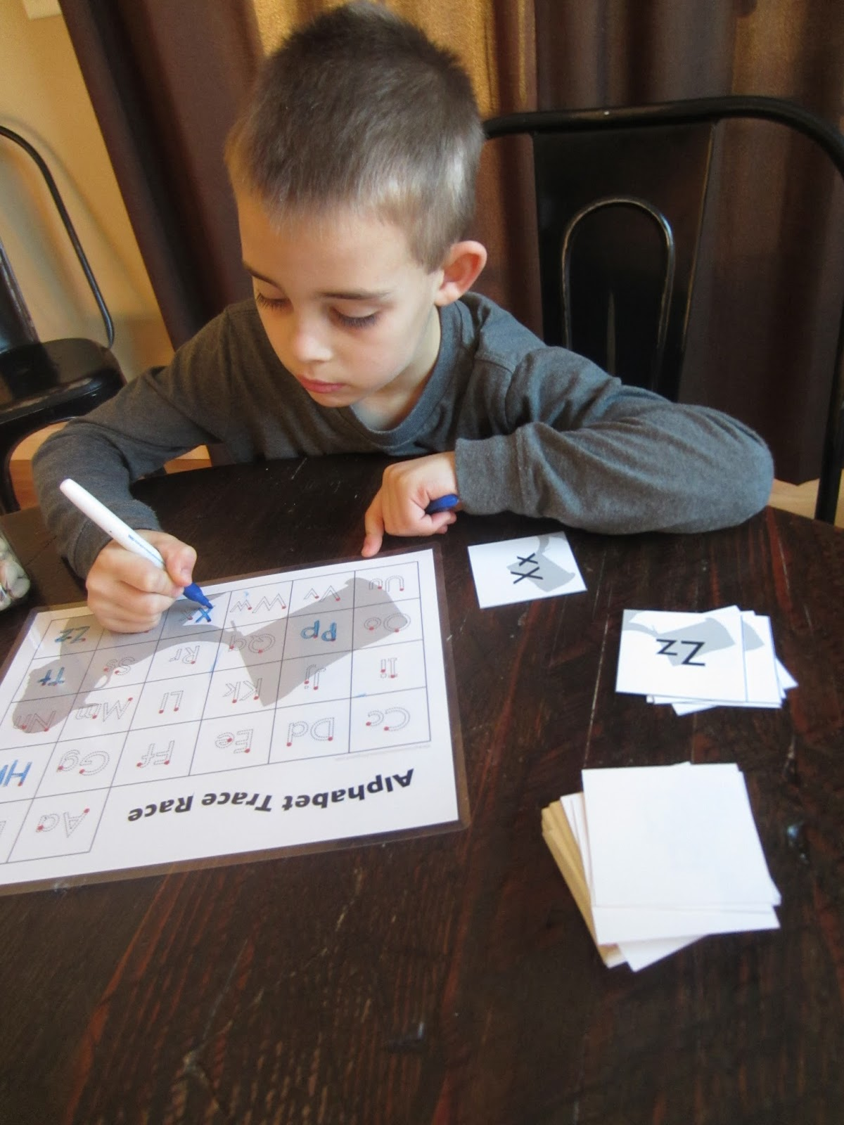 Relentlessly Fun Deceptively Educational Alphabet Trace Race Free Printable Handwriting Game