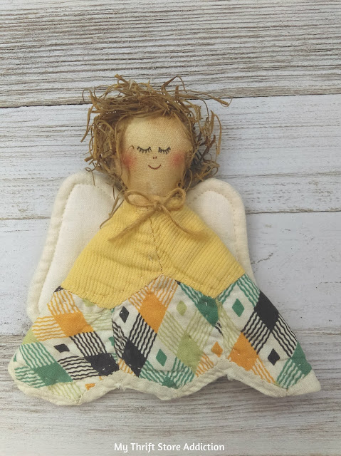 vintage quilted angel
