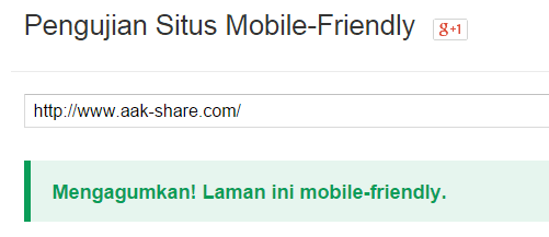 Pengujian Situs Mobile-Friendly