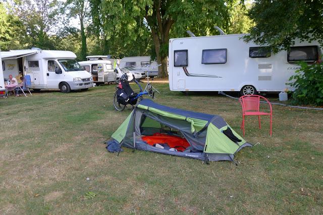 De Paris à la Rochelle en vélo couché, camping de Vendôme
