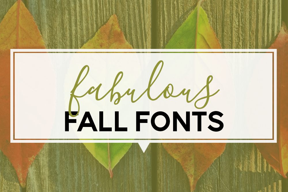 I'm happy to share some fabulous fonts with you that are inspired by this beautiful autumn season. All of these fall fonts are free for personal use from dafont.