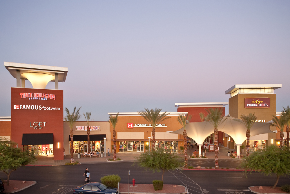 South Location. Las Vegas Premium Outlets South offers discounts on irregular, out of season or overstock merchandise. Located a couple of miles south of Mandalay Bay, this is a shopping mall for average shoppers, compared to its sister property North that is occupied by high-end factory stores.
