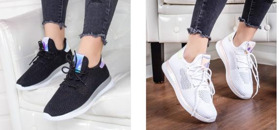 Pantofi sport Nancilea roz, albi negri domirire si frumosi la moda 2019