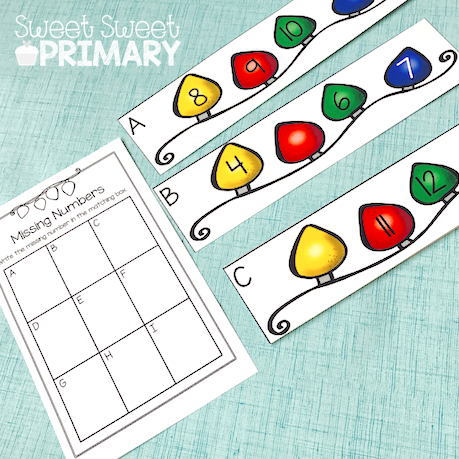 Christmas Math Centers for Kindergarten, First Grade, and Second ...