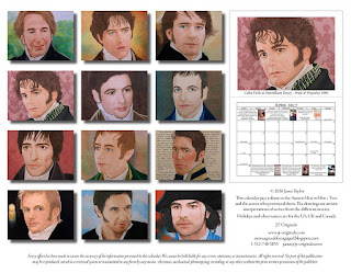 Pictures from Janet Taylor's Austen's Men in Film Calendar