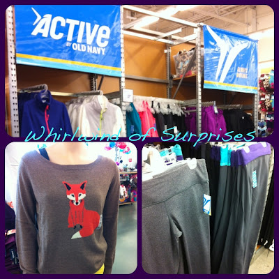 Old Navy's Active Wear Section