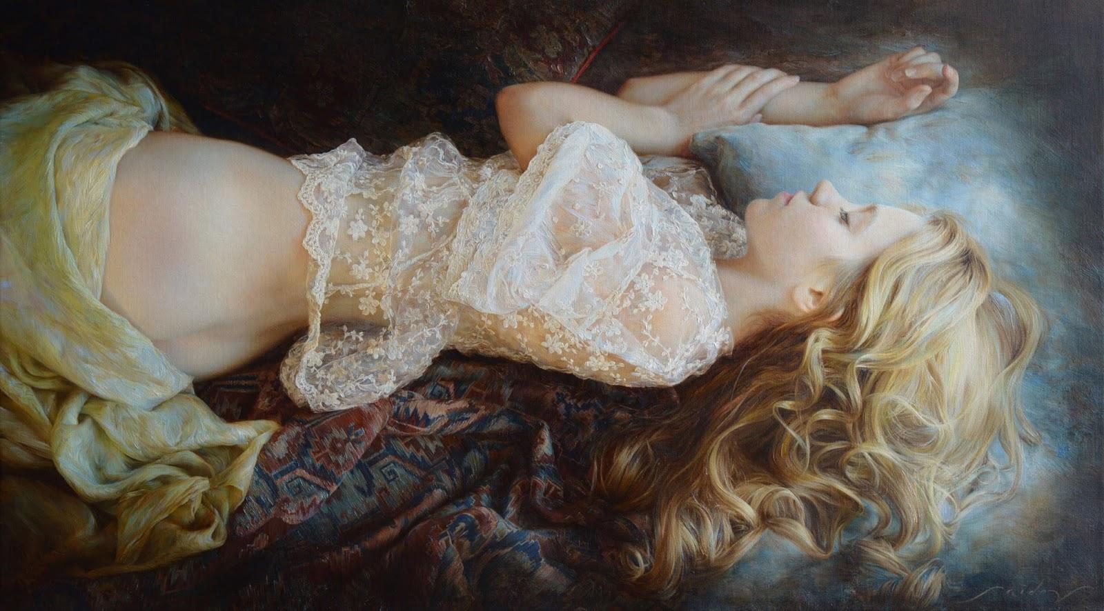 Hyperrealistic Oil Paintings by Aydemir Saidov - Tenderness (2015)
