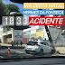 Carro atingiu poste na Hermes da Fonseca
