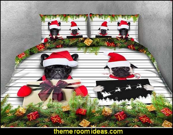 Christmas Gifts and Black Dogs Printing 4-Piece 3D Bedding Sets  pet gift ideas - gifts for pets - gifts for dogs - gifts for cats - creative gifts for animal lovers‎ - gifts for pet owners pet stuff - cool stuff to buy - pet supplies - pet cookie jars - dog throw pillows - dog themed bedding - cat throw pillows - paw pillows - gifts for cat loving friends - gifts for dog loving friends