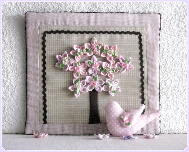 цветочное  деревце пасхальный декор панно -картина
