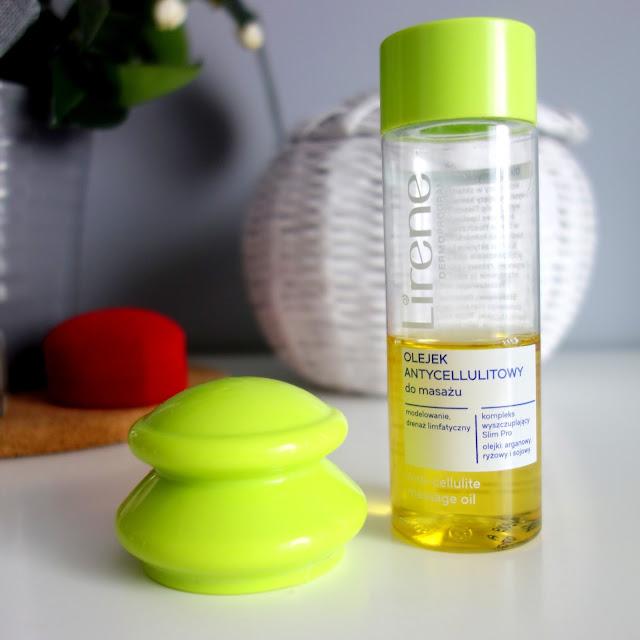 Lirene, antycellulitowa endermologia, zestaw do masażu, olejek i bańka chińska