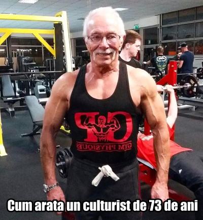 Cum arata un culturist la 73 de ani