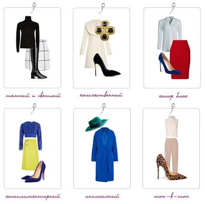 Одежда для цветотипа внешности Зима