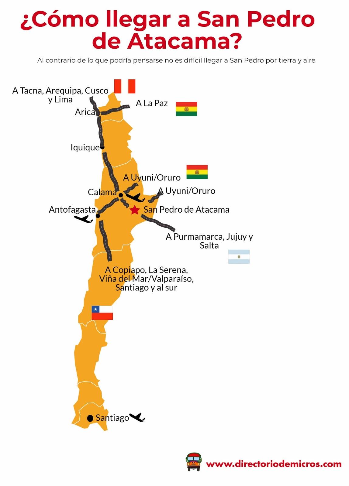 Directorio de Micros: ¿Cómo llegar a San Pedro de Atacama? (actualizado  2019)