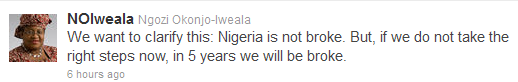Okonjo Ngozi Iweala Condoles Familes Of Those Who Lost Their Loved Ones On Twitter 3