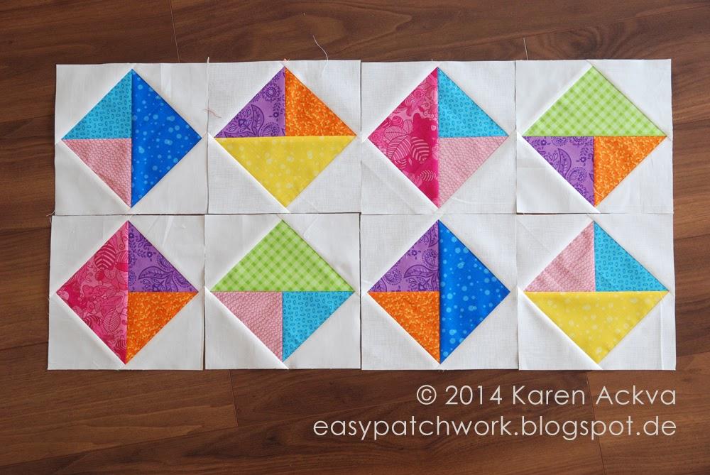 8 colorful blocks for april