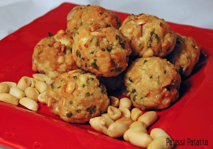 recette de boulettes de poulet aux cacahuètes, poulet et cacahuètes, boulettes exotiques, boulettes de viande