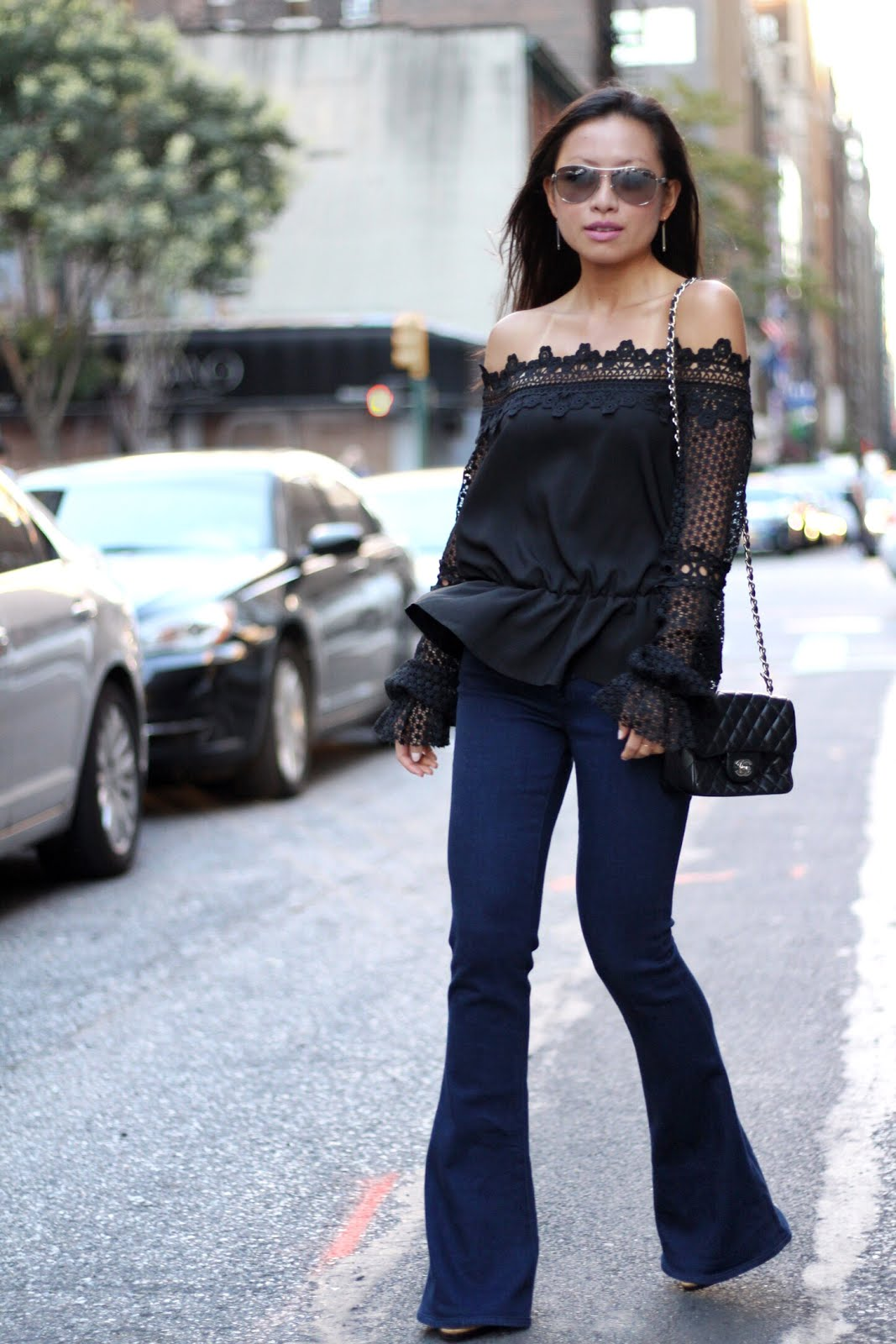 Style Mafia off the shoulder Ejerz top