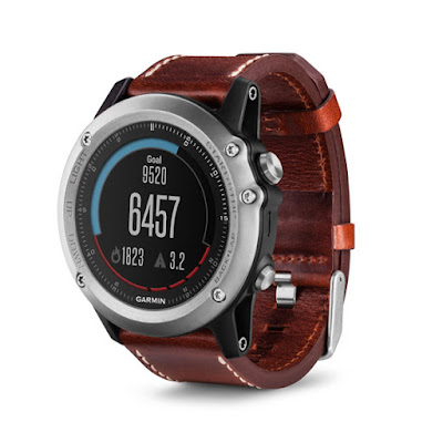 Garmin Fenix 3 Sapphire (Silver With Leather Band)