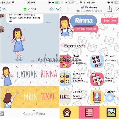 Rekomendasi Chatbot Line Rinna