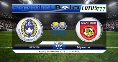Prediksi Skor Bola Indonesia Vs Myanmar 10 Oktober 2018