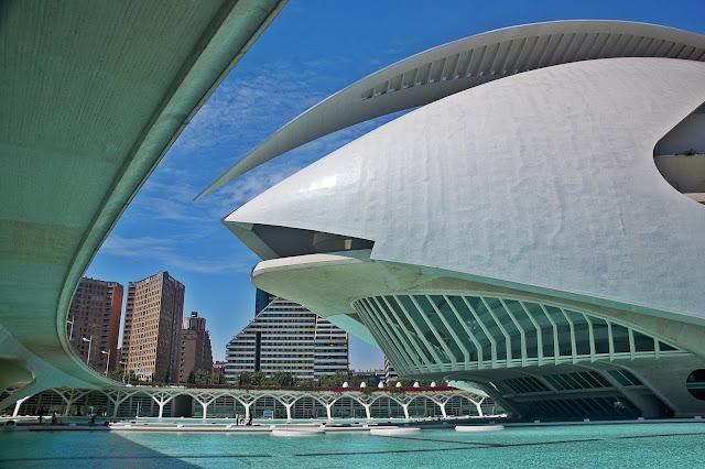 architektura miasteczka Sztuki i Nauki, Walencja Hiszpania