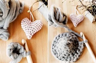 Tığ işi Kalp Şeklinde Yastık Modeli Resimli Anlatım