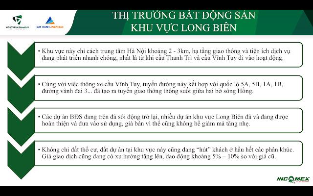 Thị trường bất động sản quận Long Biên